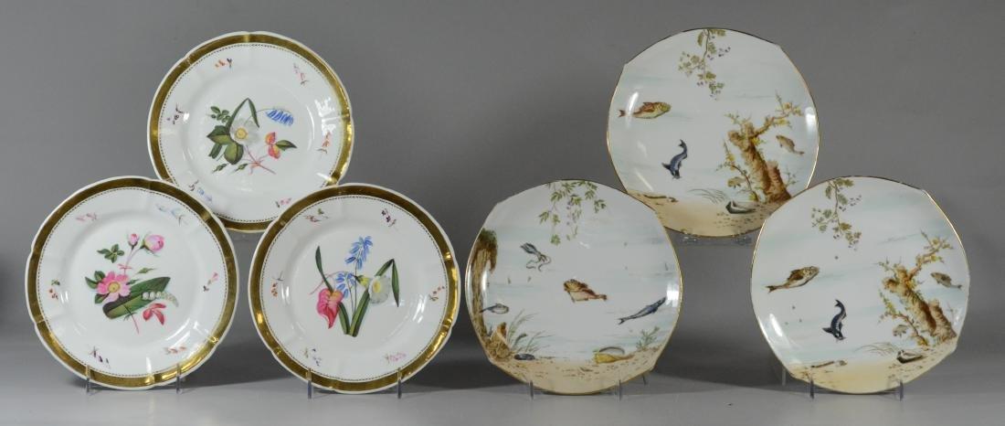 (6) porcelain plates, Spode & Limoges