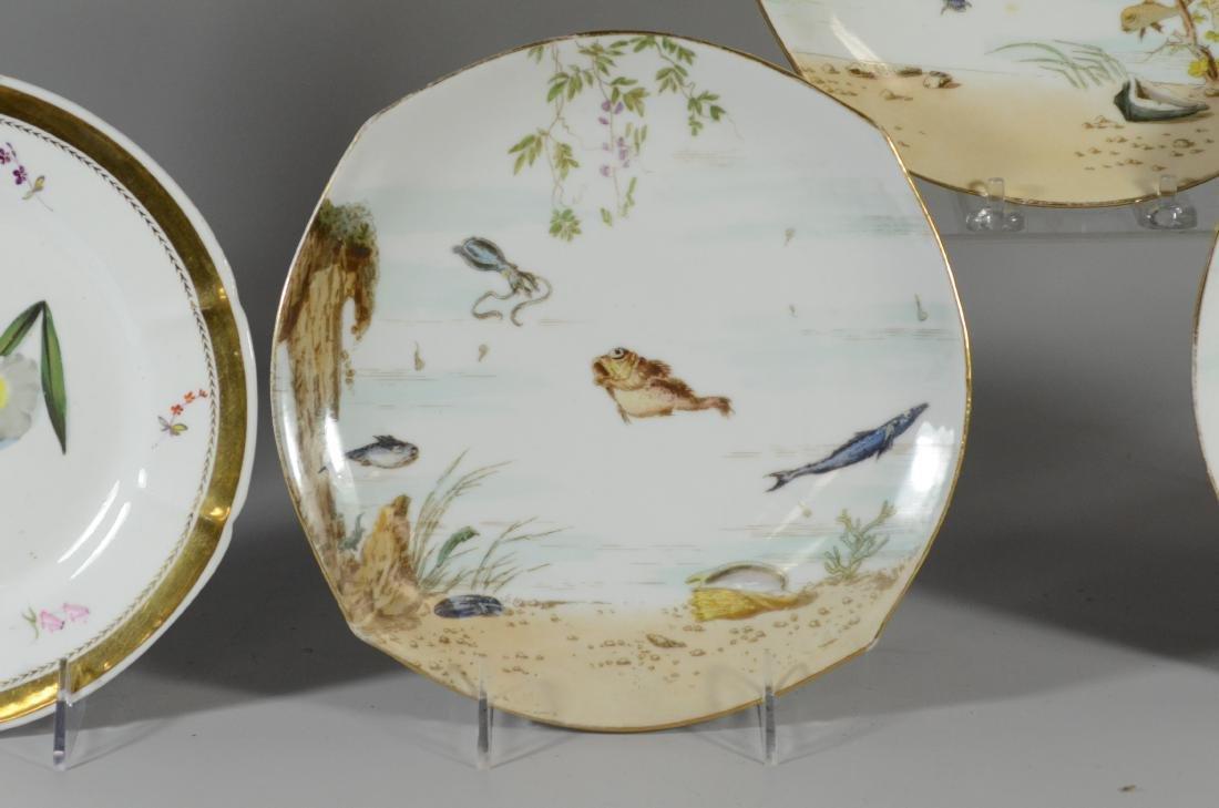 (6) porcelain plates, Spode & Limoges - 2