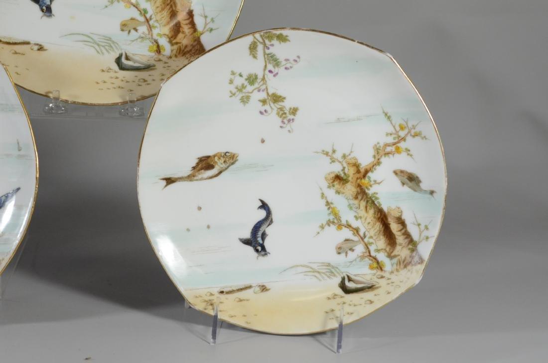 (6) porcelain plates, Spode & Limoges - 3