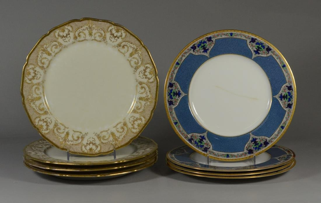 (8) porcelain plates, JP Limoges & Royal Worcester