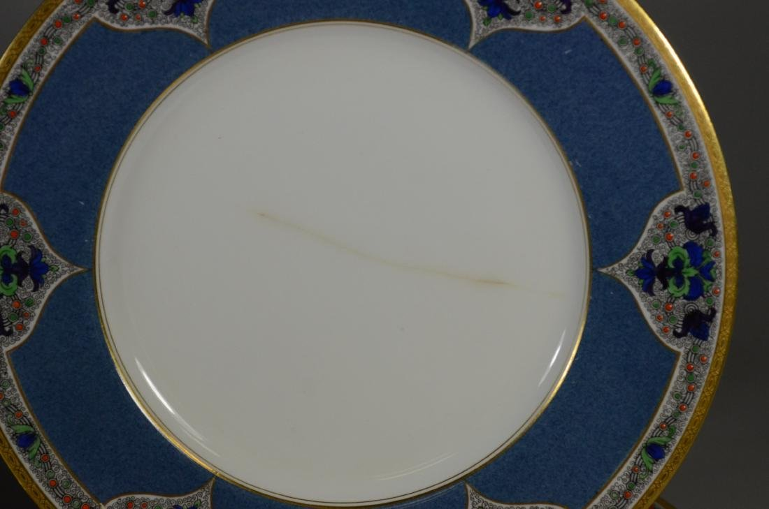 (8) porcelain plates, JP Limoges & Royal Worcester - 2
