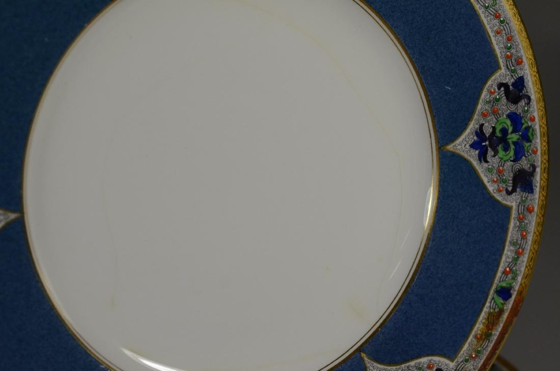 (8) porcelain plates, JP Limoges & Royal Worcester - 4