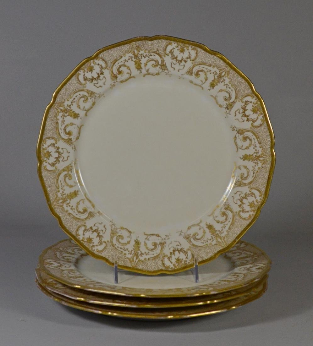 (8) porcelain plates, JP Limoges & Royal Worcester - 5