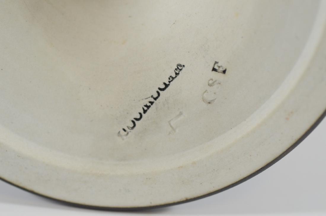 (3) pc Wedgwood black basalt helmet creamer and suga - 4