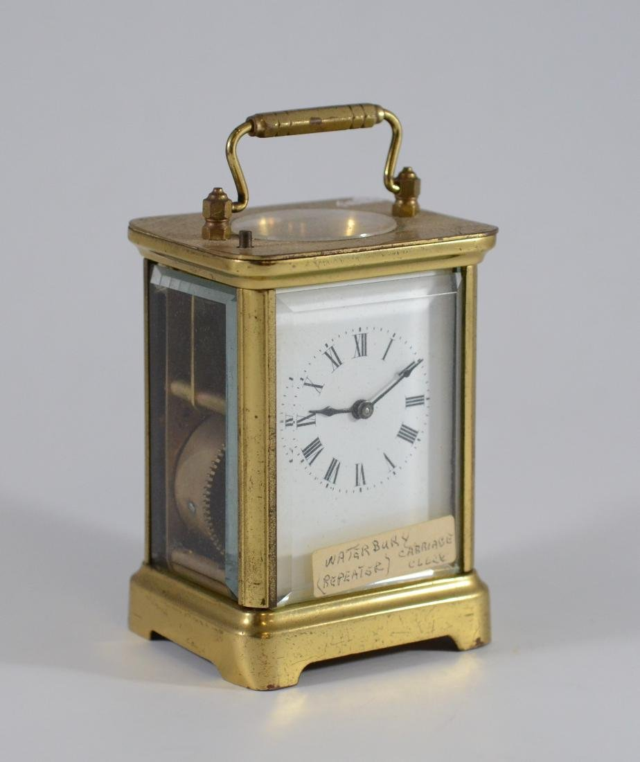 "Waterbury hour repeating carriage clock, 5 1/2"" h"