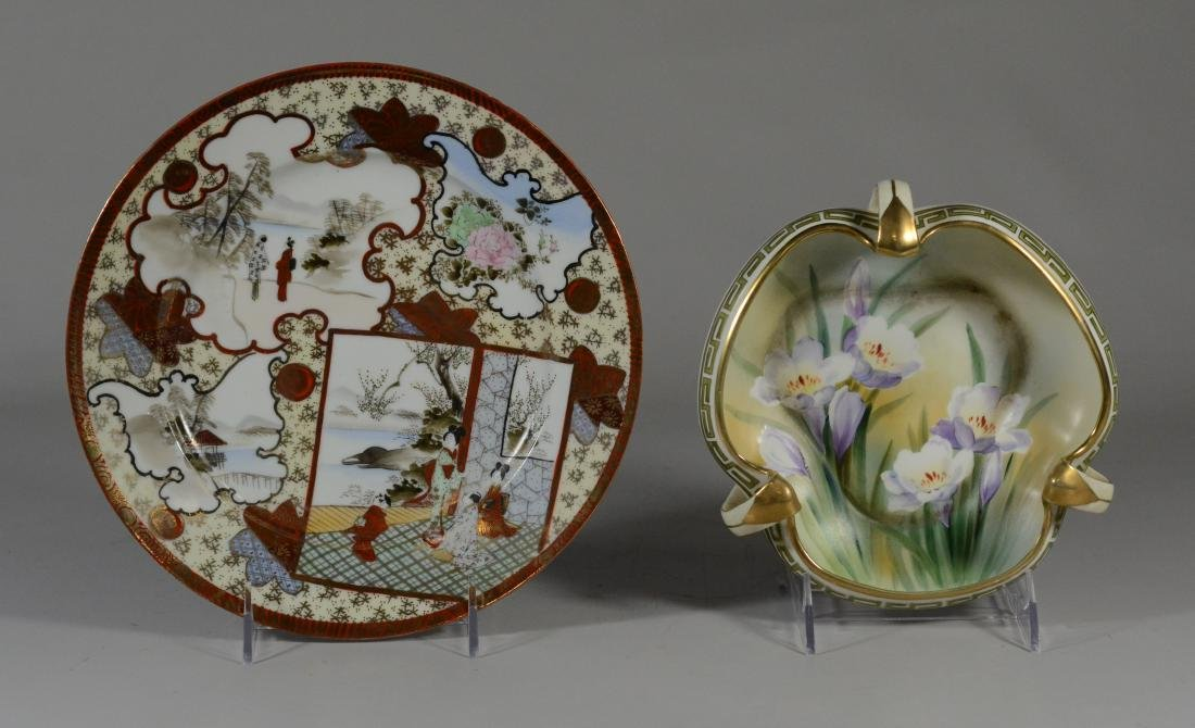 (2) pcs porcelain, including Nippon