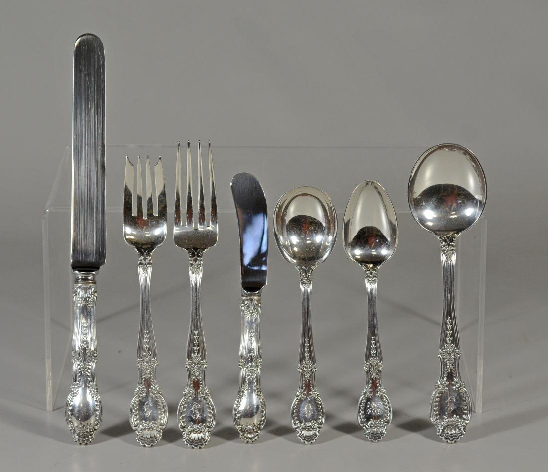 (57) pieces Tiffany & Co Richelieu sterling flatware - 2