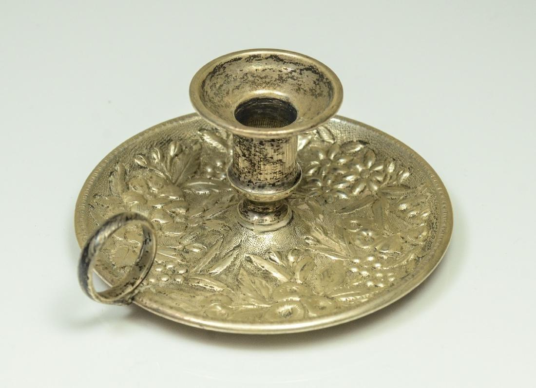 3 Miniature silver chambersticks - 3