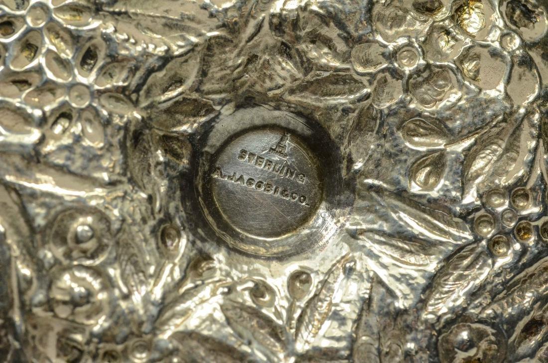 3 Miniature silver chambersticks - 4