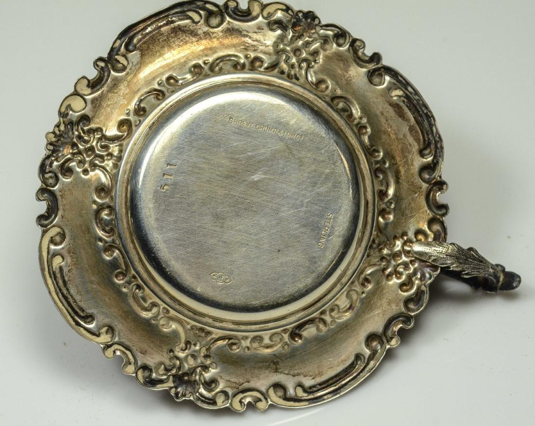 3 Miniature silver chambersticks - 5