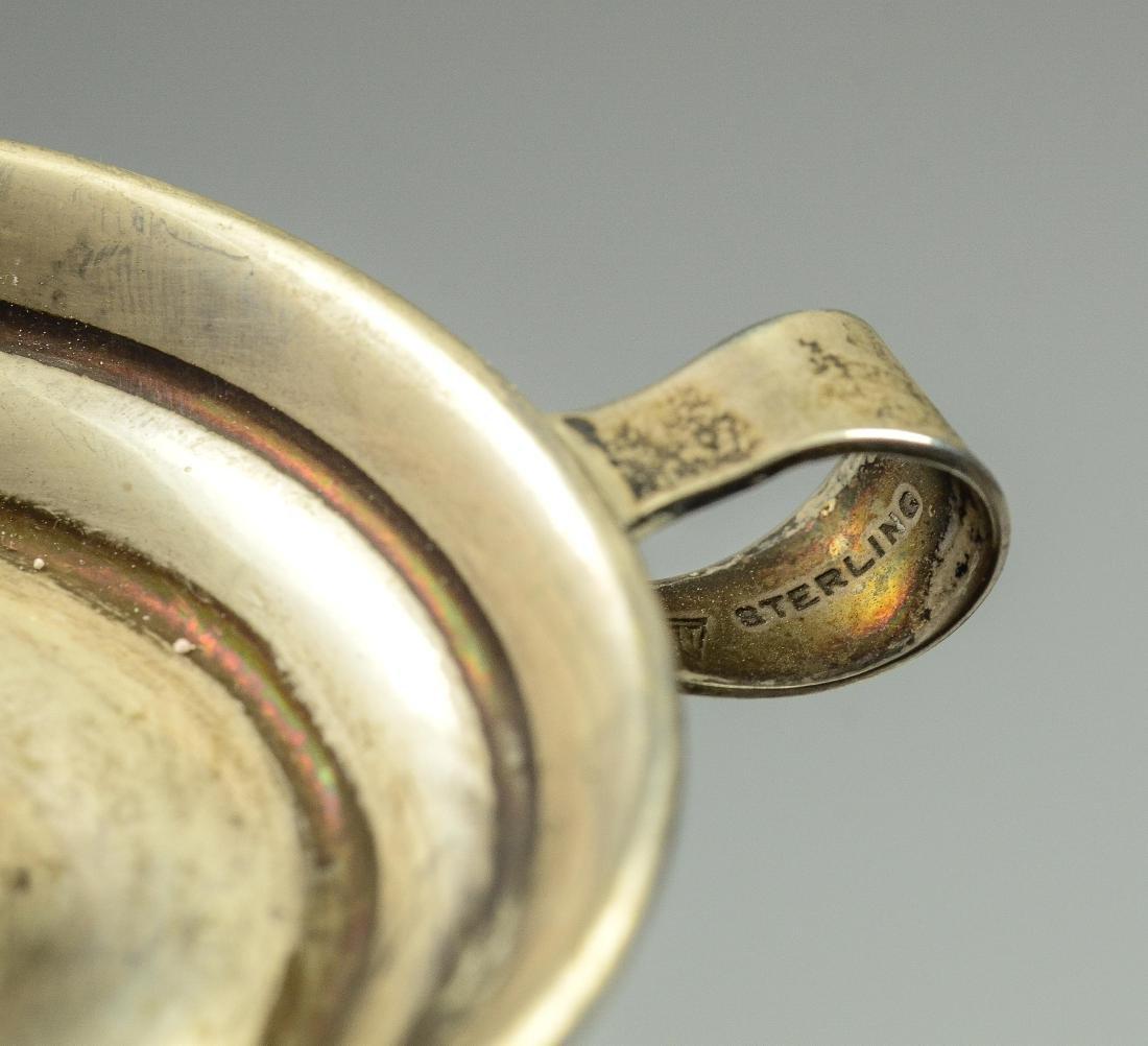 3 Miniature silver chambersticks - 6