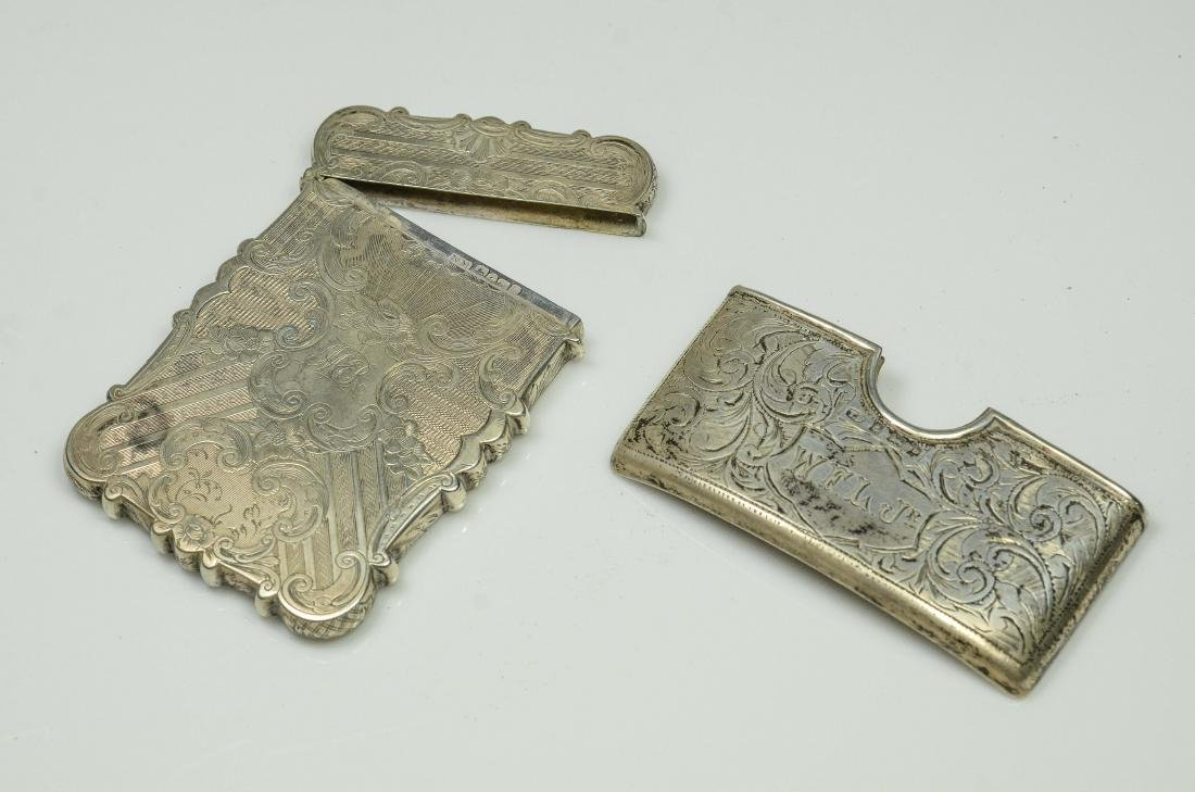 2 English Silver Card Cases