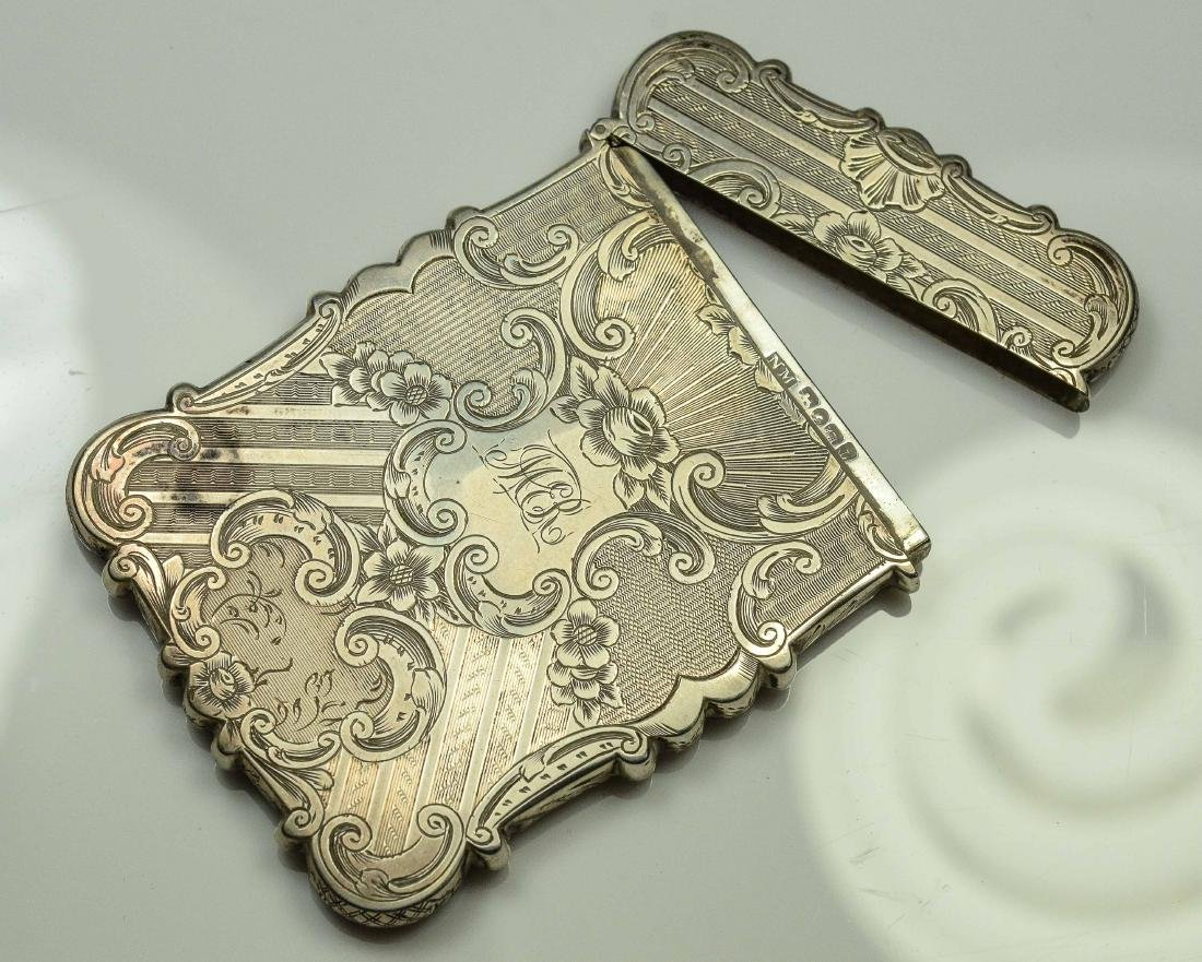 2 English Silver Card Cases - 2