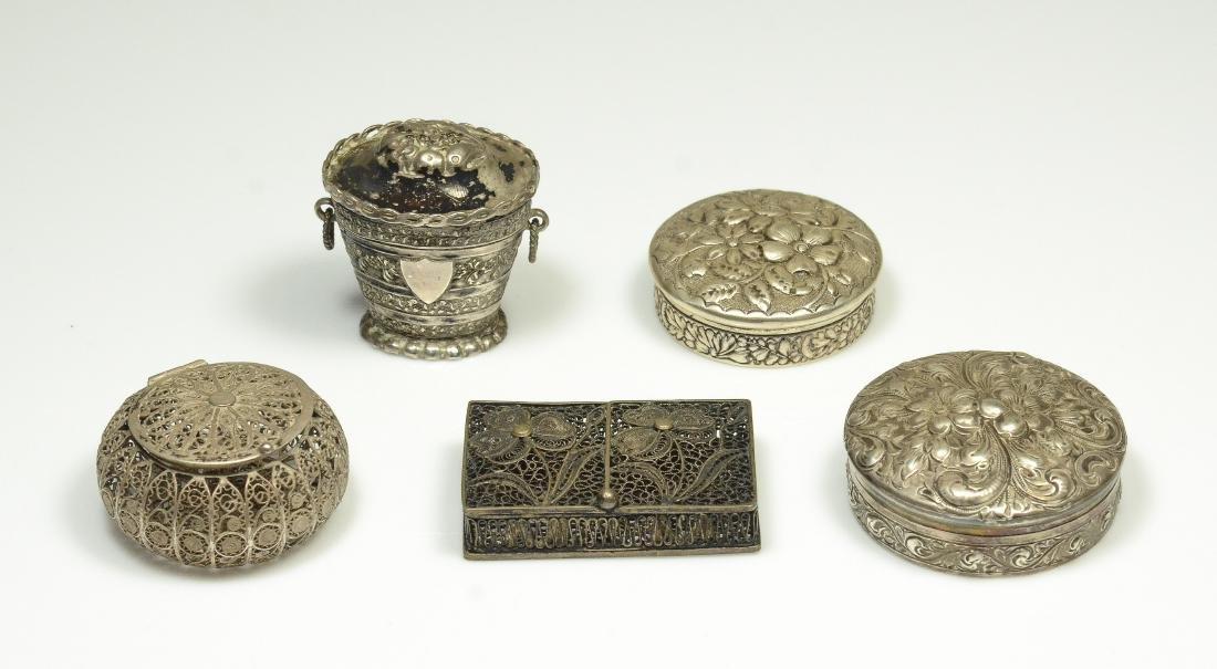 5 Silver Boxes
