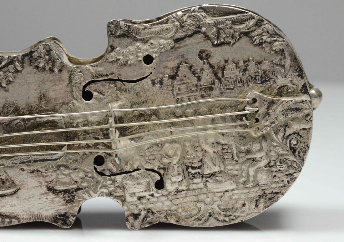 Dutch violin form 833 silver dresser box - 3