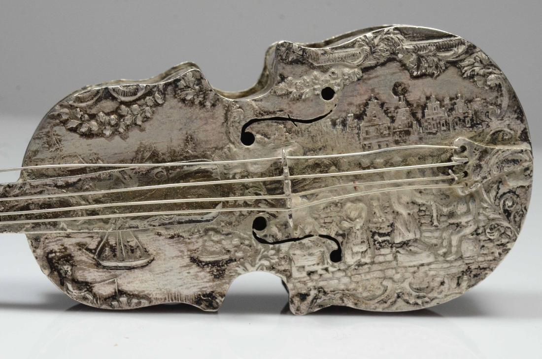 Dutch violin form 833 silver dresser box - 4