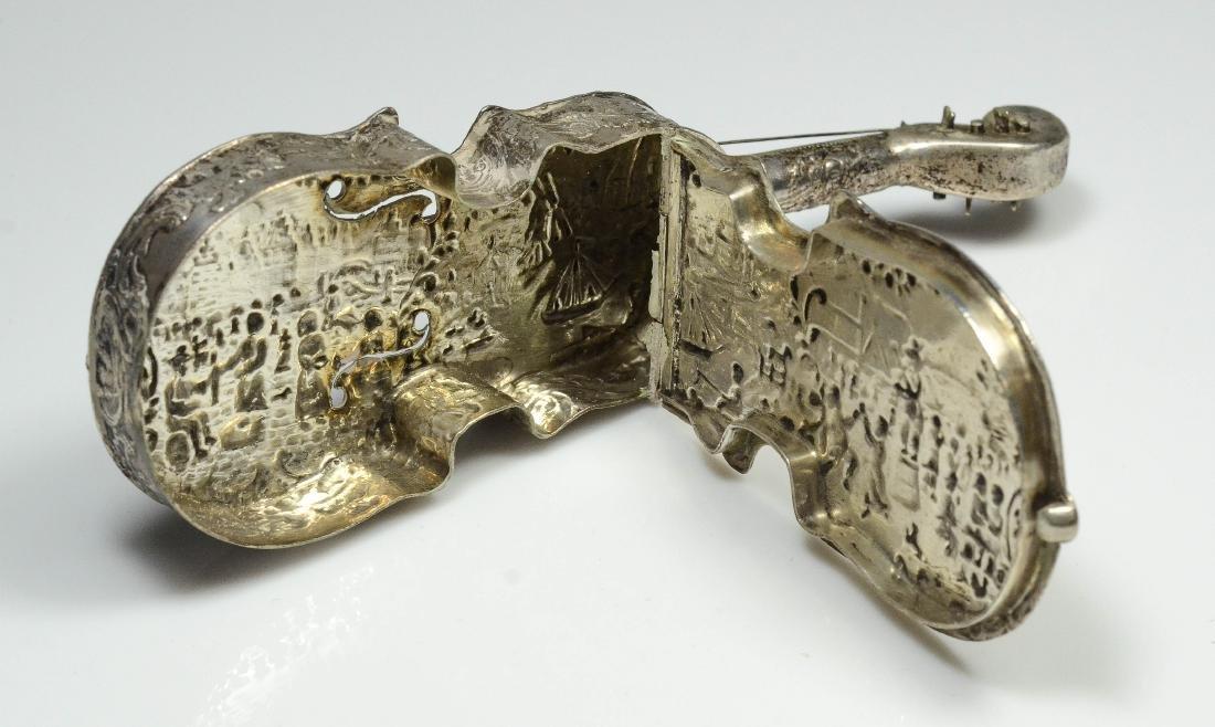 Dutch violin form 833 silver dresser box - 7