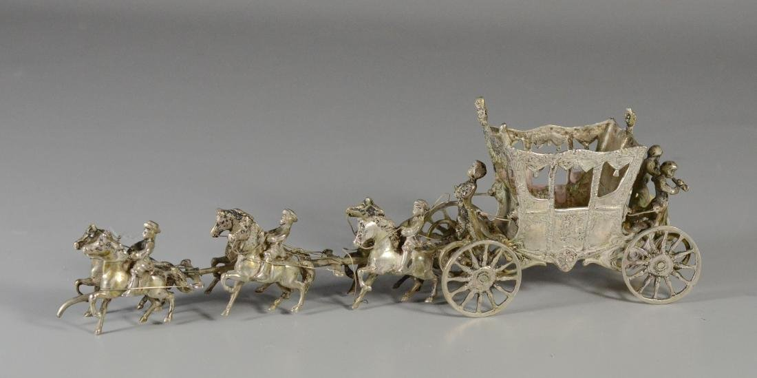 Continental silver horse drawn coach with 6 horses - 2
