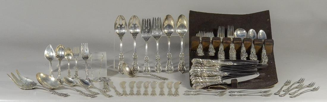 100 pcs Reed & Barton Francis I sterling flatware