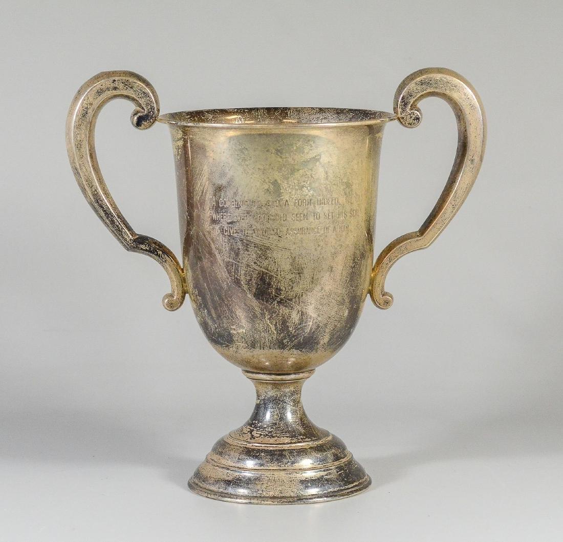 J E Caldwell Sterling Silver Trophy Urn