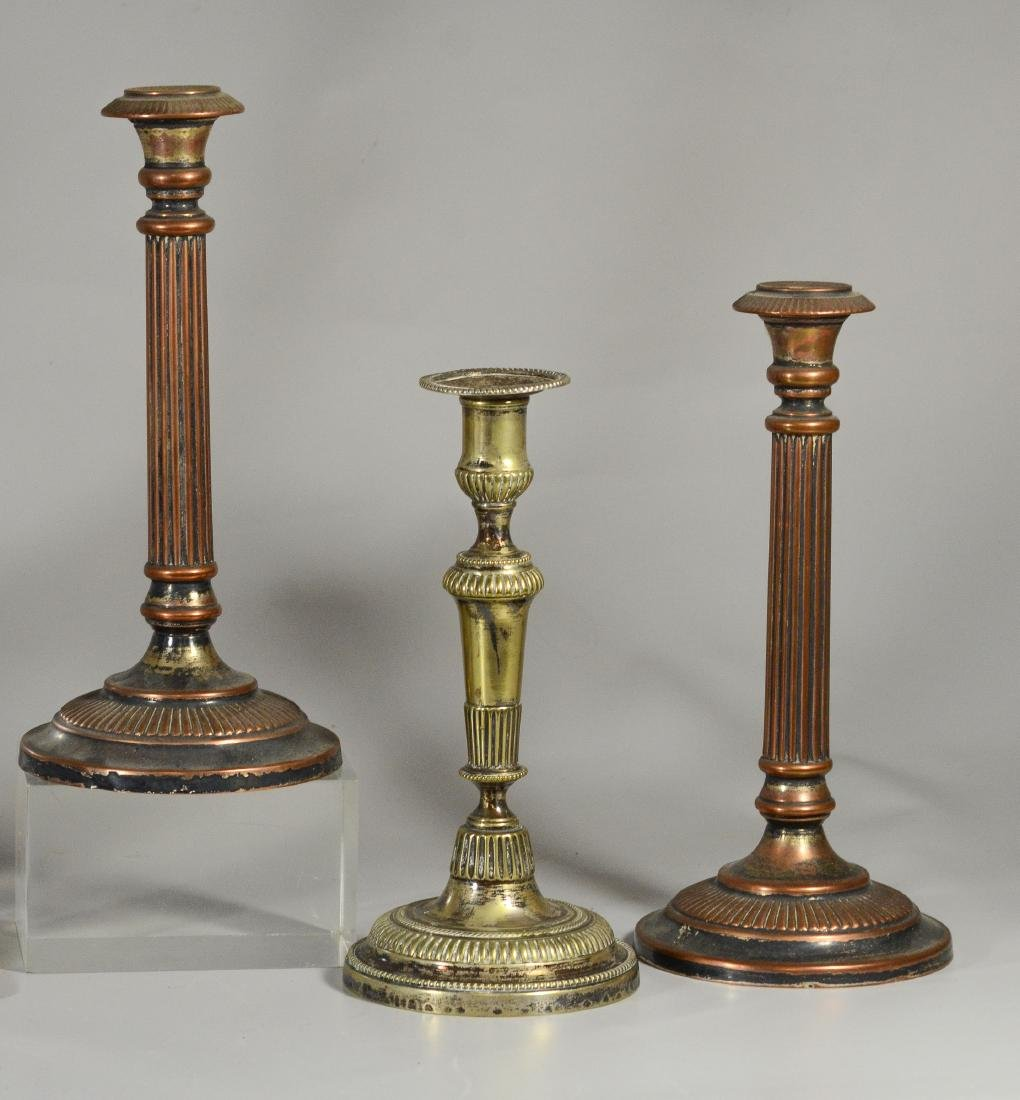 10 Plated silver Sheffield candlesticks, 19th C - 4