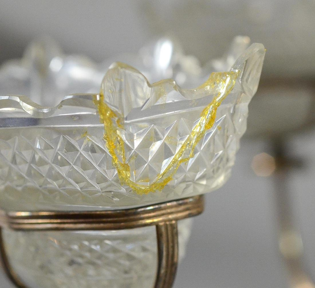 Plated silver epergne, unsigned - 5