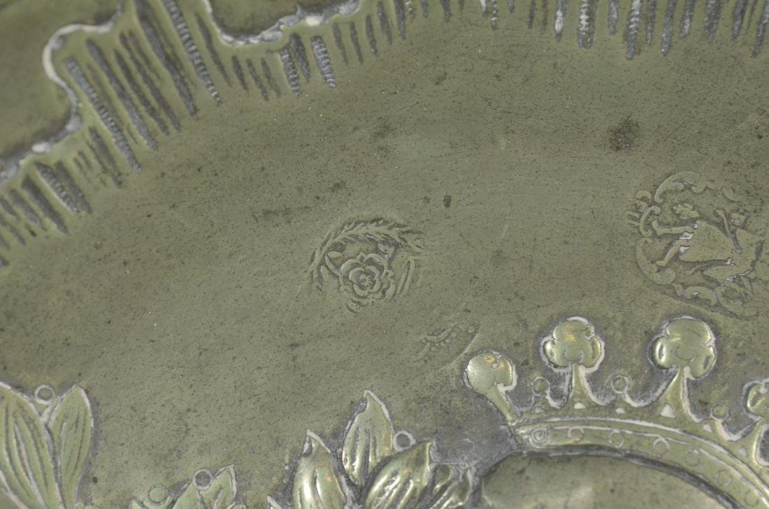 10 18th/19th C French/Swiss decorative pewter platessss - 3