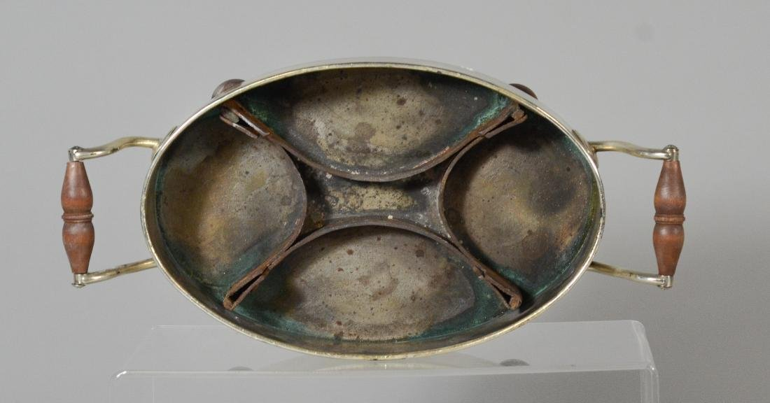 Ovoid silver plated serving dish with revolving top - 6