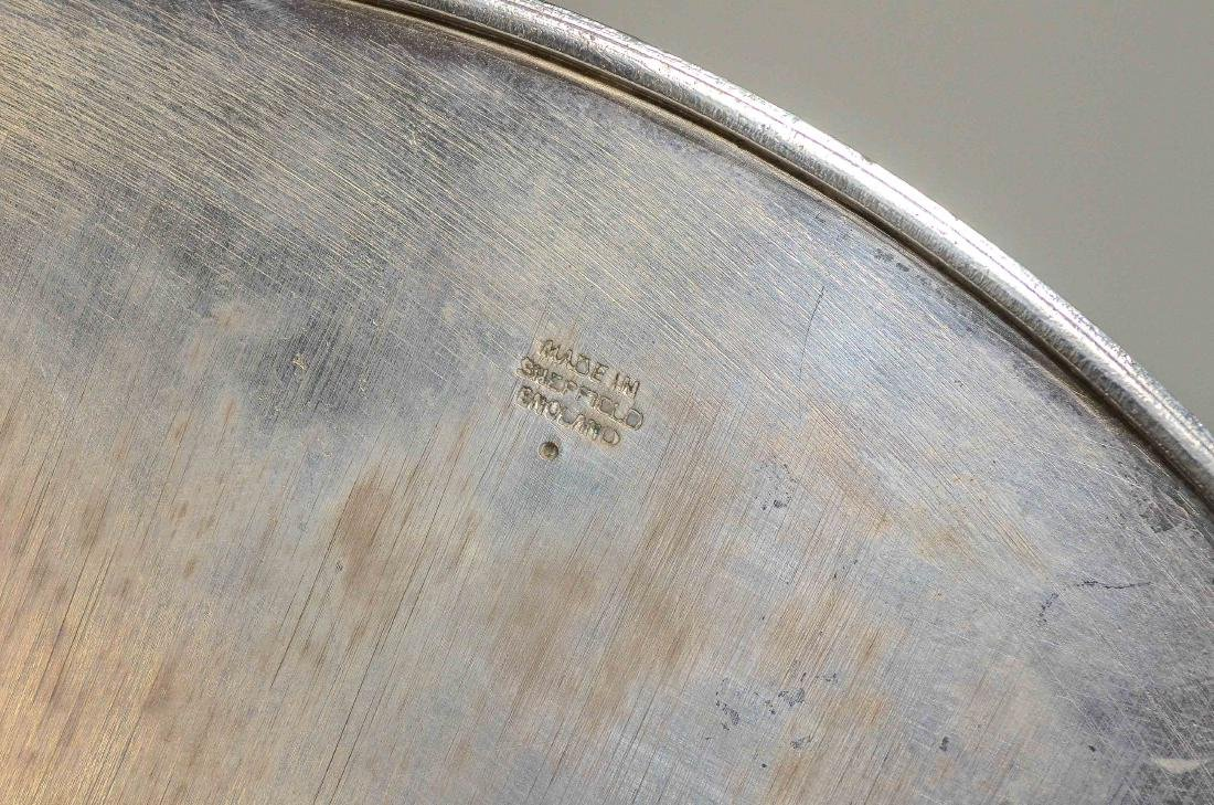 Oval Sheffield Silver Plated Pierced Gallery Tray - 3