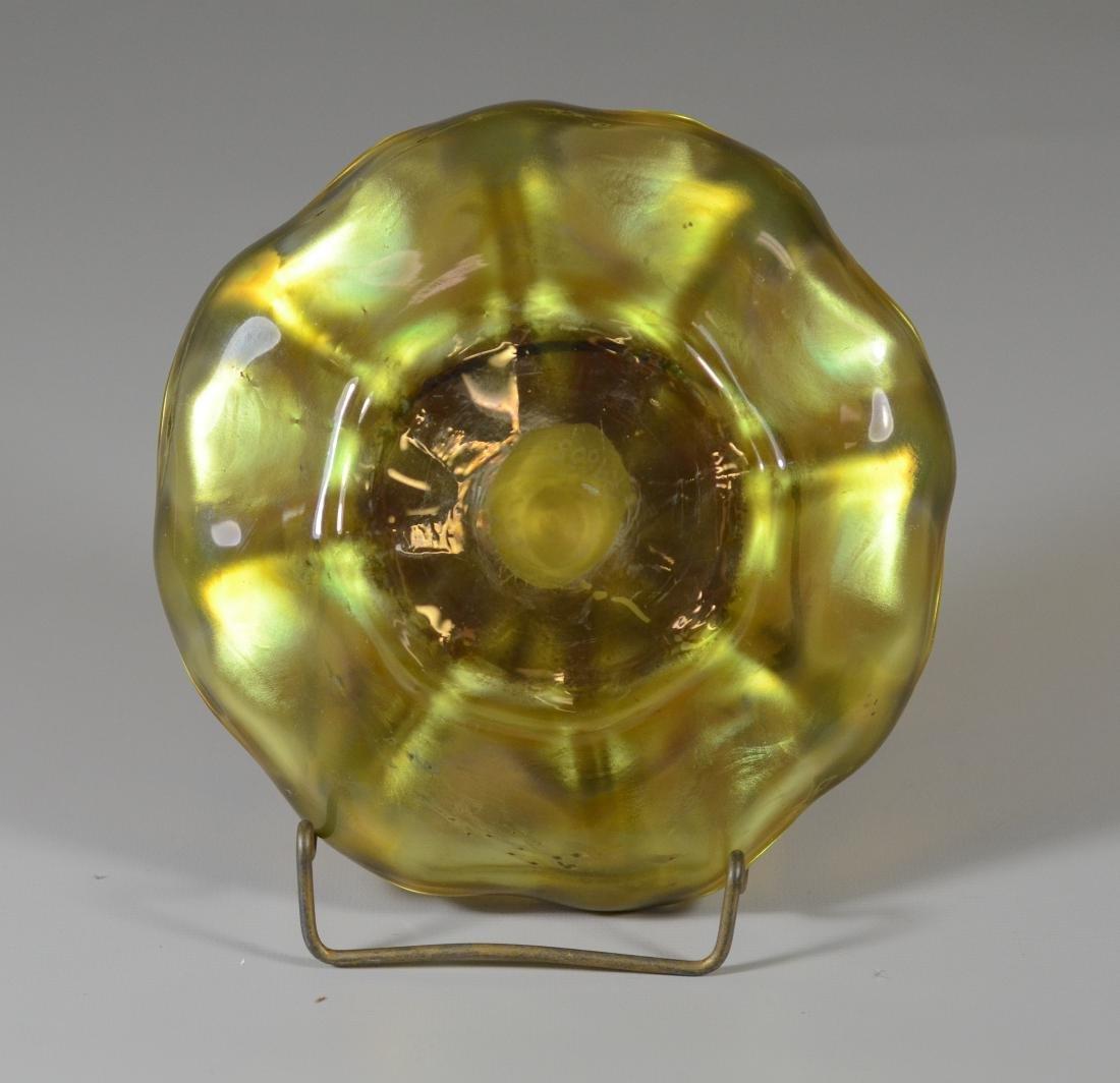 Louis Comfort Tiffany Favrile art glass dish, signed - 2