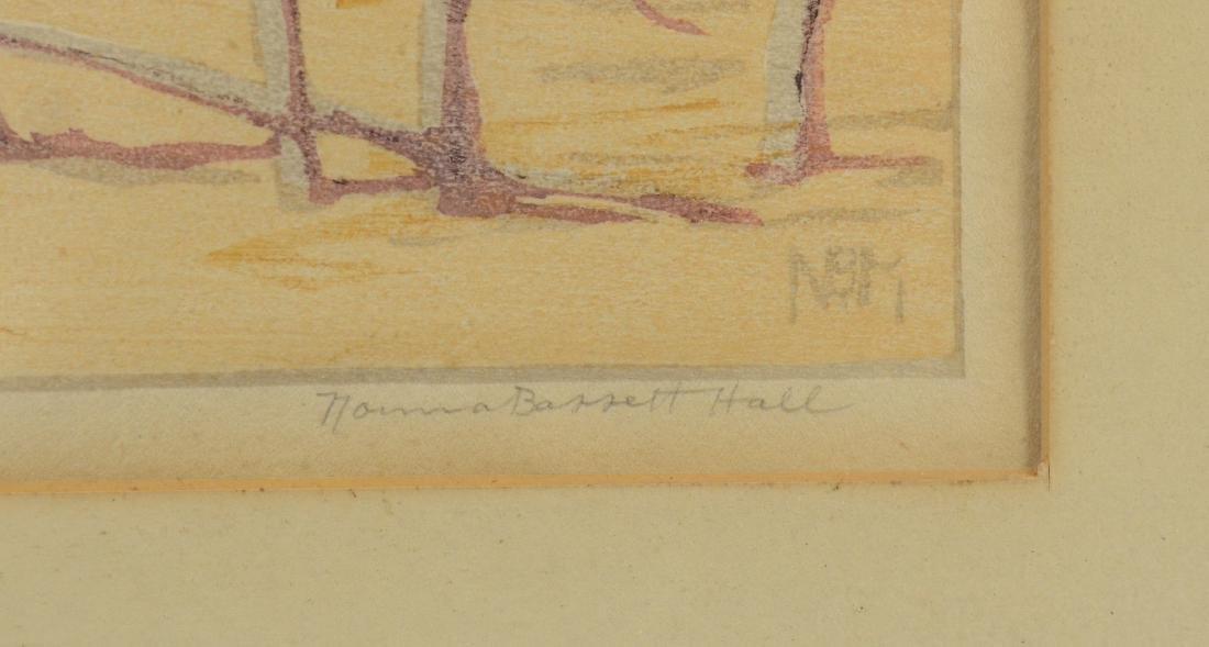Norma Bassett Hall, color woodblock October in Santa Fe - 3