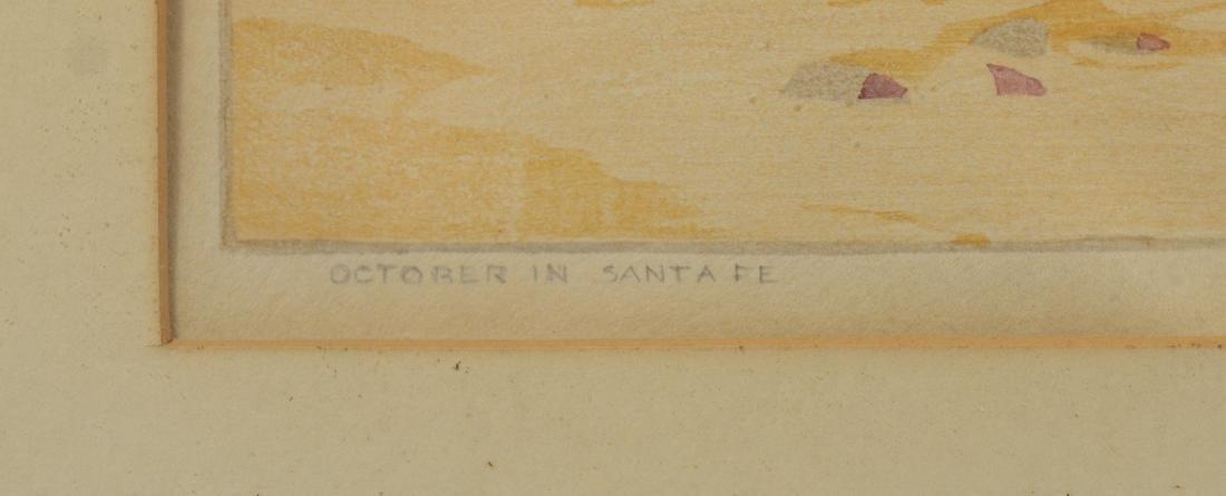 Norma Bassett Hall, color woodblock October in Santa Fe - 4