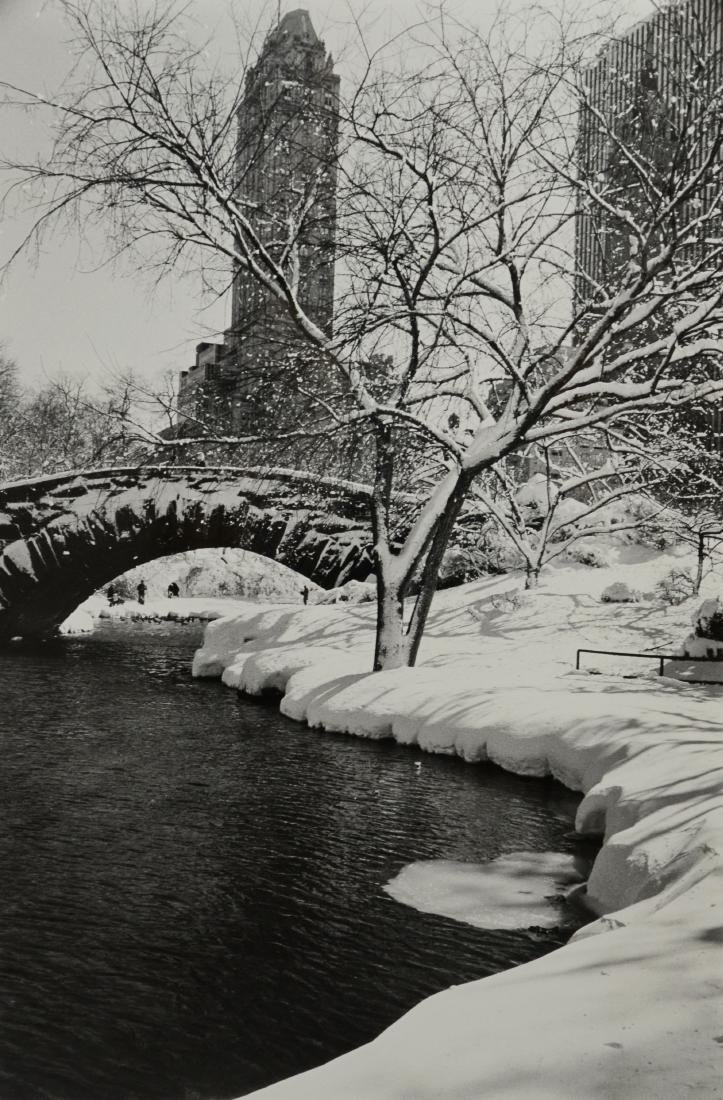 """Alfred Eisenstaedt, """"Central Park After a Snowstorm"""""""