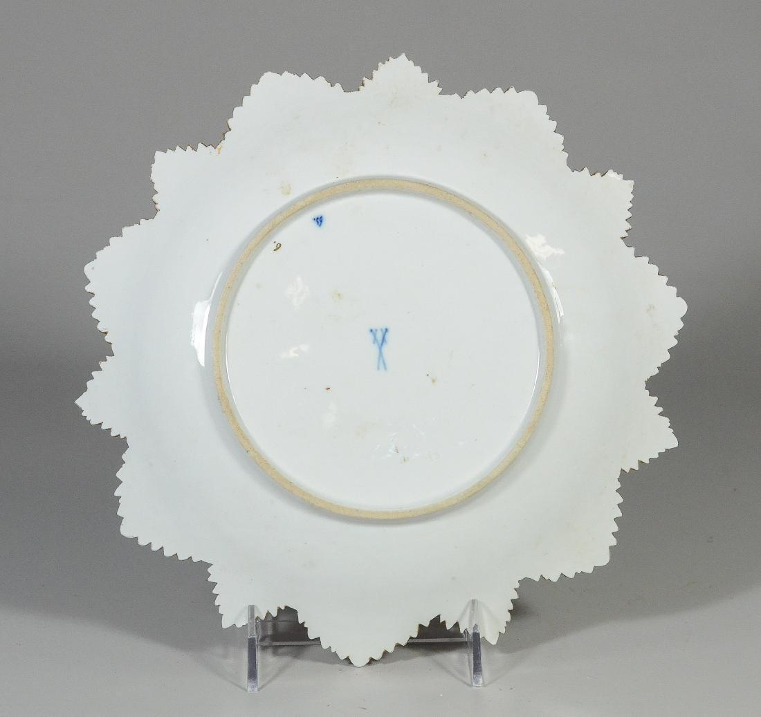 """Gilt Decorated Meissen Porcelain Leaf Plate; 10 1/2"""" - 2"""