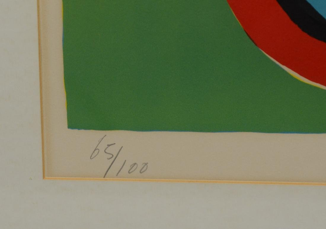 Karel Appel, signed color lithograph, figural abstract - 4