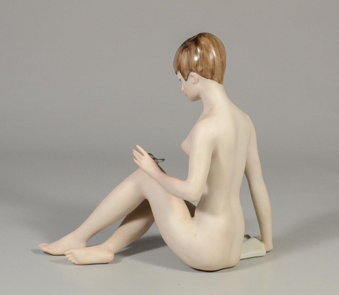 Teplitz porcelain figurine of a nude woman & butterfly - 2