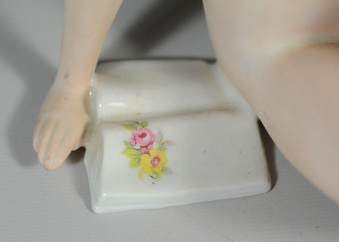 Teplitz porcelain figurine of a nude woman & butterfly - 5