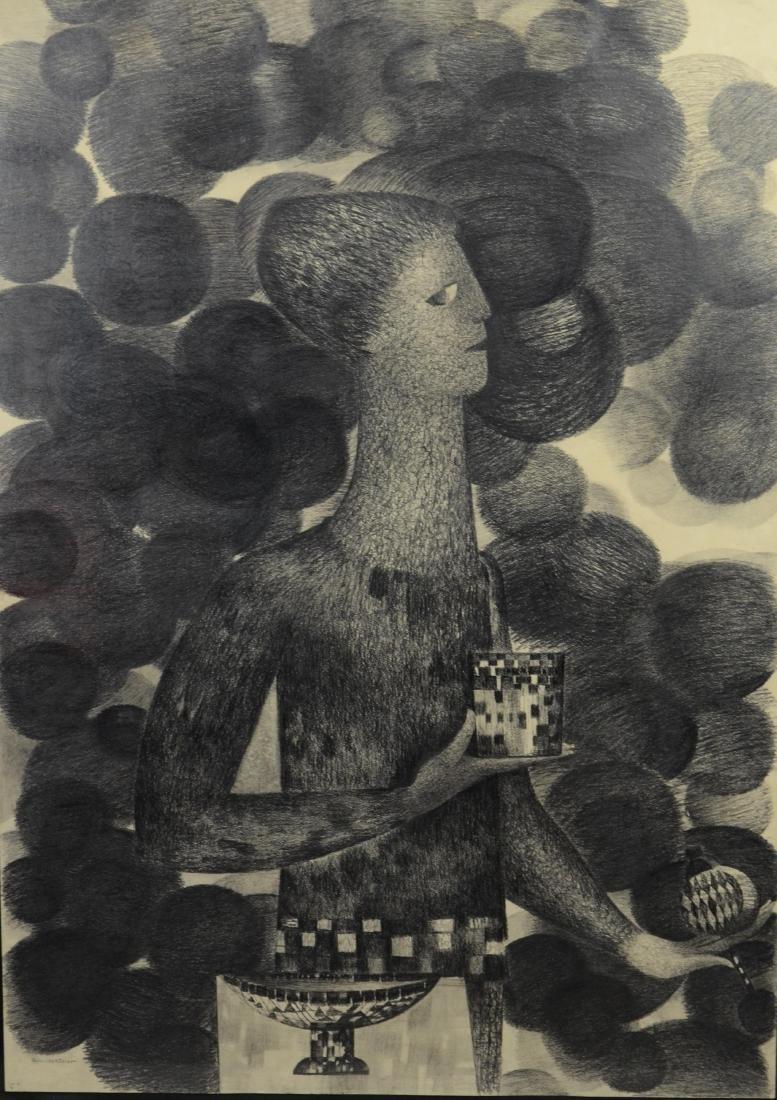 Gertrude Kohler (20th C German artist) drawing of a