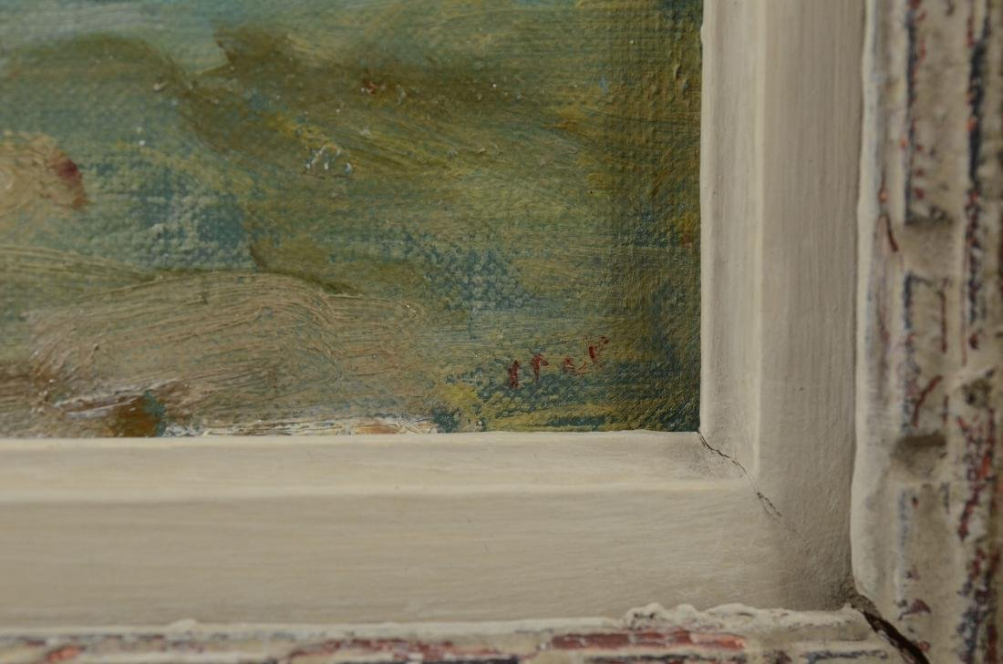 "Gabrielle Spat, ""Sur la Plage"" oil on canvasboard - 4"