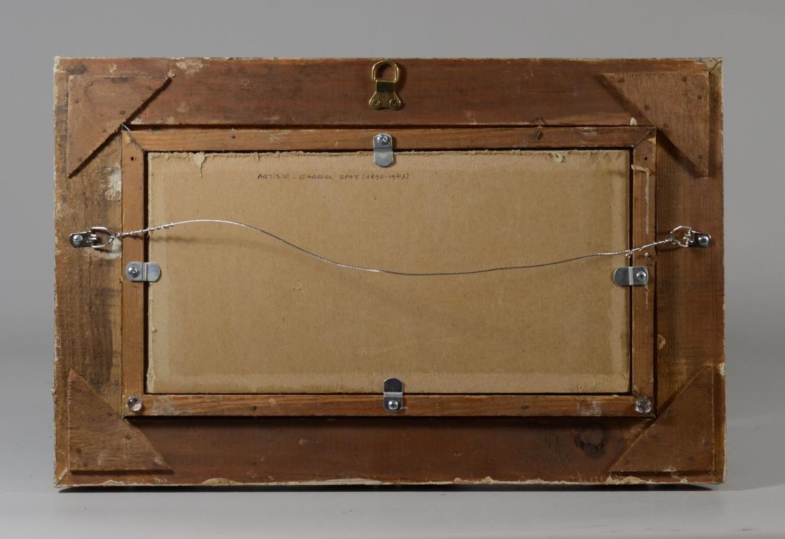 "Gabrielle Spat, ""Sur la Plage"" oil on canvasboard - 6"
