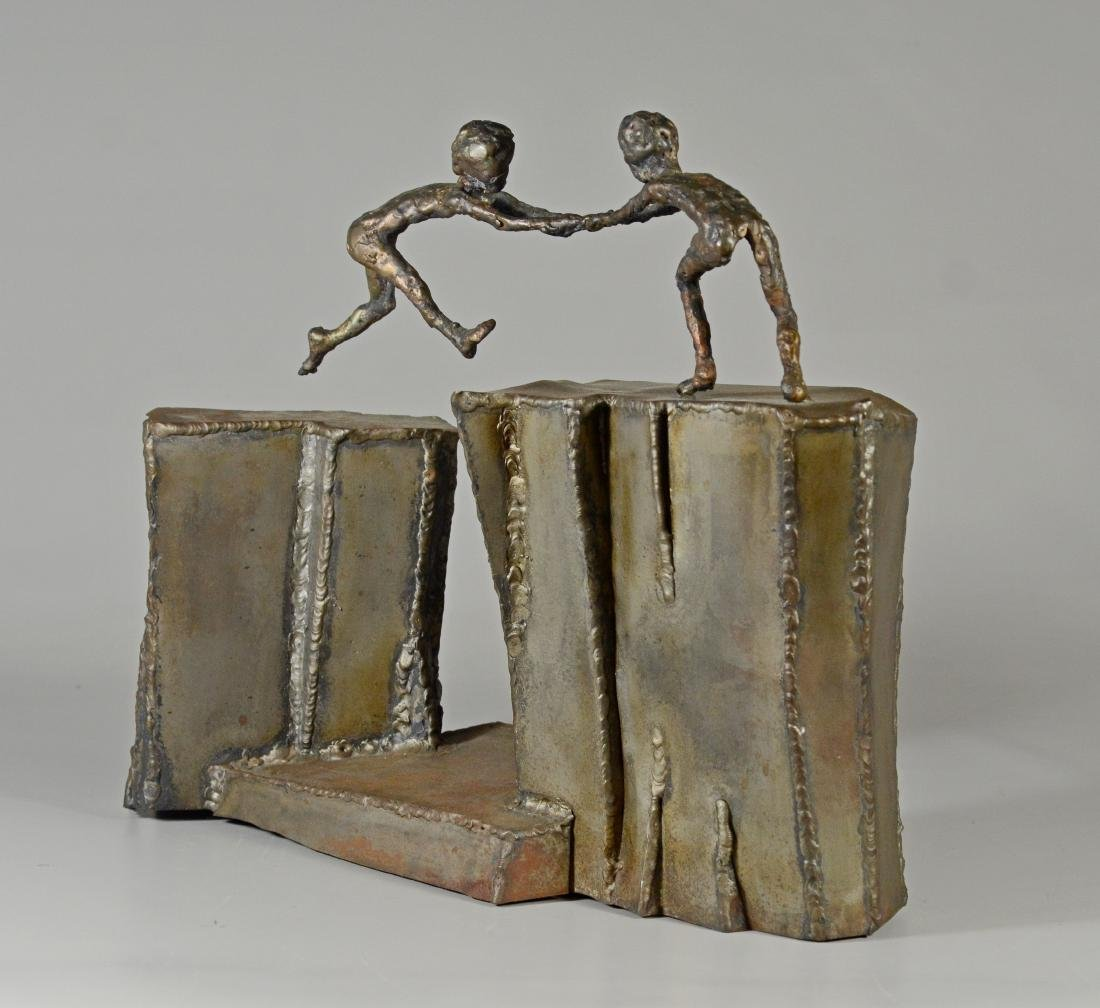 Harold Kimmelman brutalist sculpture of two children - 5
