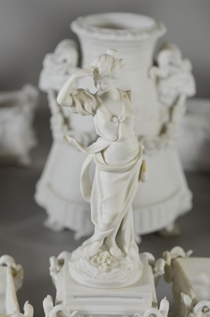 13 pc Volkstedt Porcelain Parian Classical Centerpiece - 10