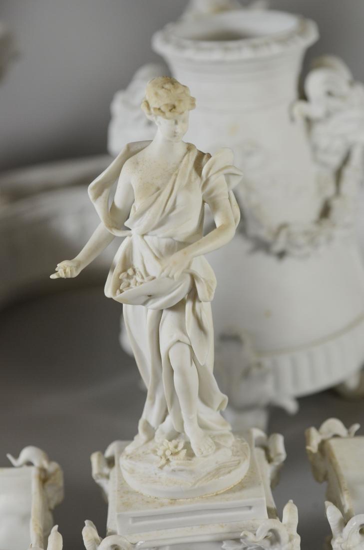 13 pc Volkstedt Porcelain Parian Classical Centerpiece - 2