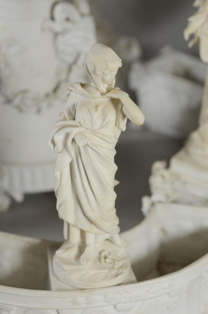 13 pc Volkstedt Porcelain Parian Classical Centerpiece - 4