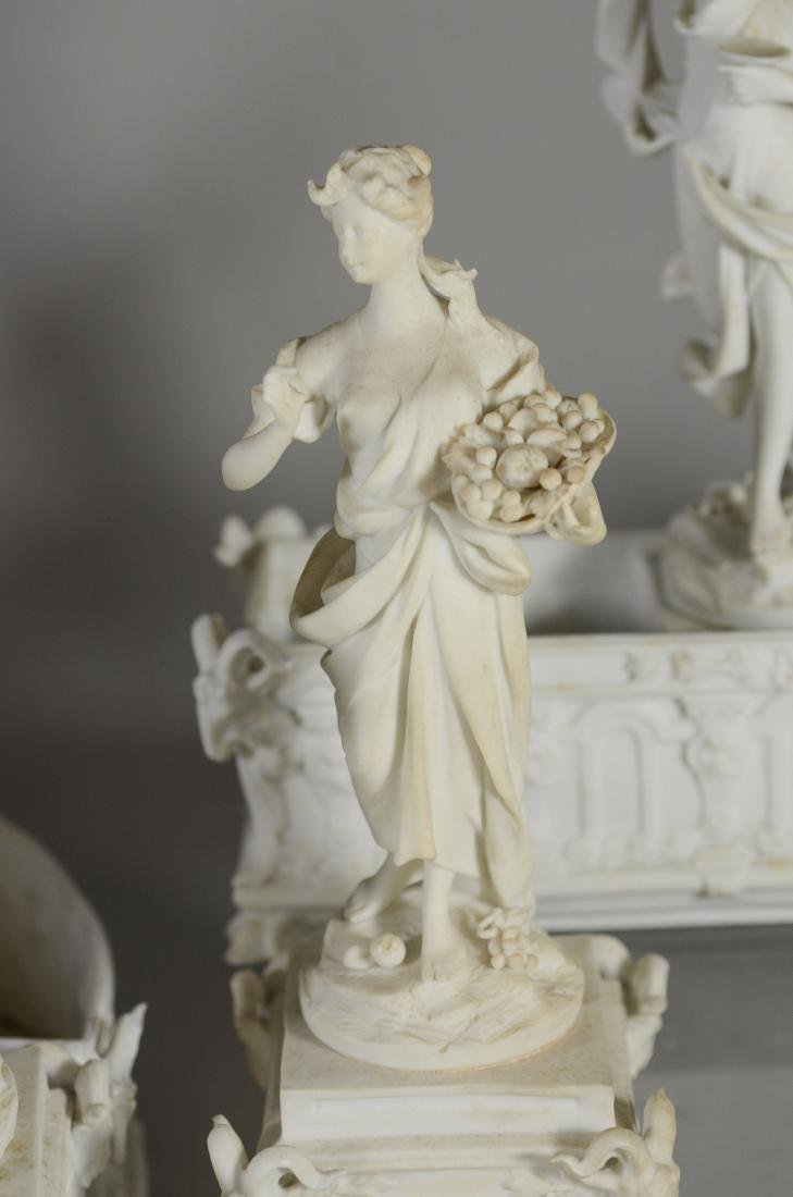 13 pc Volkstedt Porcelain Parian Classical Centerpiece - 5