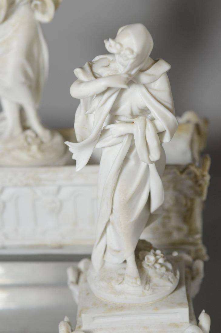 13 pc Volkstedt Porcelain Parian Classical Centerpiece - 7