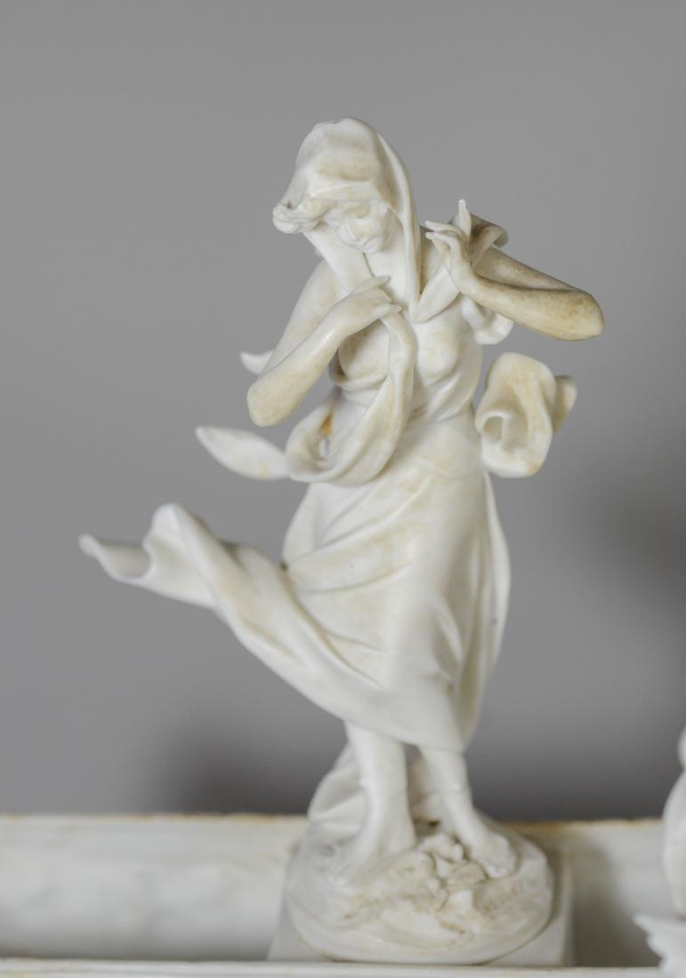 13 pc Volkstedt Porcelain Parian Classical Centerpiece - 8