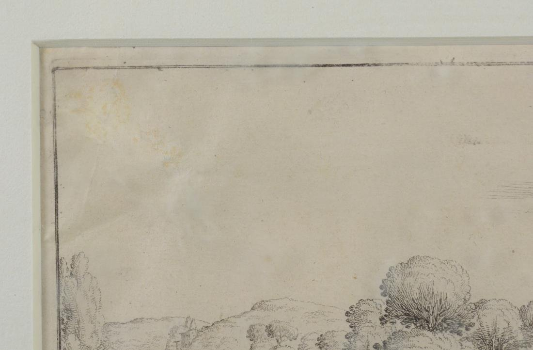 Jacques Callot, etching on paper of a boar hunt - 4