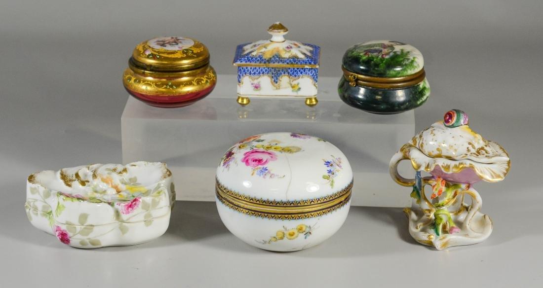 6 Dresser Boxes including Meissen, Dresden, Limoges - 2