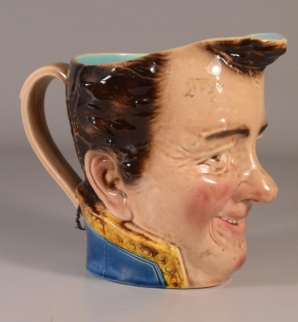 French majolica 'Toby' jug, Sarreguemines, early 20th C - 2